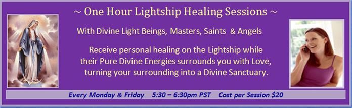 Program 1: One Hour Lightship Healing Sessions, every Monday and Friday from 5:30 pm to 6:30 pm PST, cost 20 dollars per session.